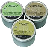 Aromatherapy Candles- Bergamot & Lime Eucalyptus & Peppermint & Frankincense & Patchouli- Made With 100% Pure...