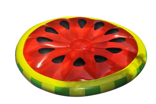 Swimline Watermelon Slice Island Inflatable Raft front-906508