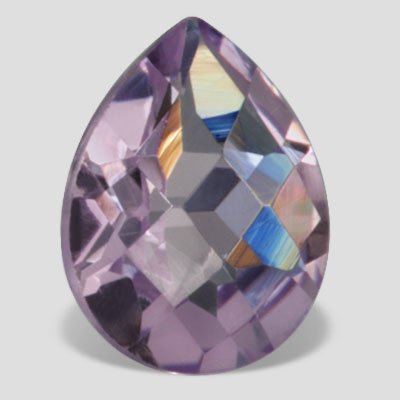 1 ctw 8X6 mm Double Checker Pear Loose Purple Amethyst Loose Gemstone SI Clarity