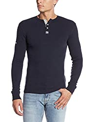 Superdry Men's Cotton Sweater (5054265730542_M60005TNF4_M_Eclipse Navy Marl)