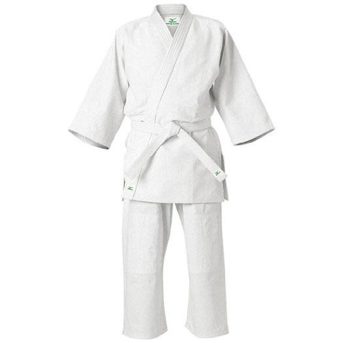 Mizuno (MIZUNO) love school school student Judo garments (jacket / pants / belt set) bleached 76FJ39101 01 white IV