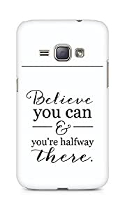 AMEZ believe you can and you are there halfway Back Cover For Samsung Galaxy J1 (2016 EDITION)