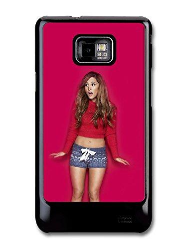 Ariana Grande With Red Background Popstar Singer custodia per Samsung Galaxy S2