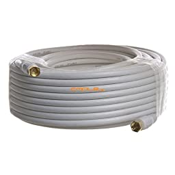 Cmple - RG6 F Type Coaxial 18AWG CL2 Rated 75Ohm Cable - 100ft