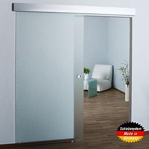 Ganzglasschiebetür vollsatiniert  900x2050x8mm  SO3 / Kostenloser Versand // Glastür / Glasschiebetür / Schiebetür, DIN Links  Bewertungen und Beschreibung