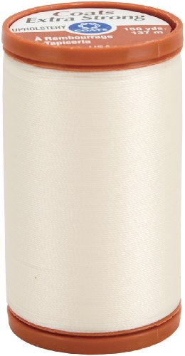 Big Save! COATS & CLARK Extra Strong Upholstery Thread, 150-Yard, Natural