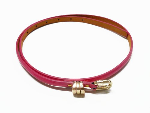 Fashion Women's Buckle Candy Color Thin Belt