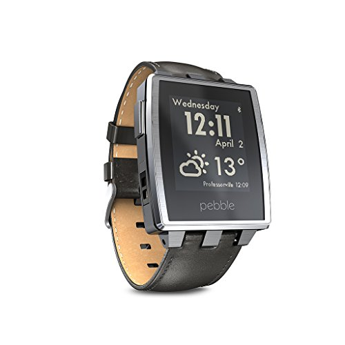 Pebble Steel Smart Watch For Iphone And Android Devices (Brushed Stainless)