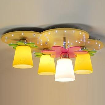4 lights cartoon flowers kid 39 s room ceiling
