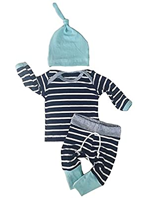 Newborn Baby Boys Girls Clothes Long Sleeve Tops Pants Trousers Hat Outfits Set by Aliven that we recomend personally.