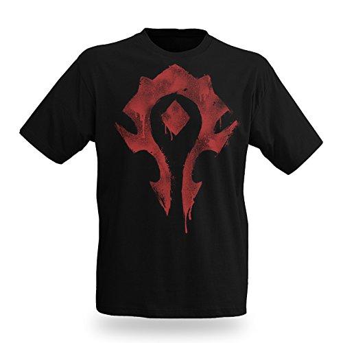 World of WarCraft - T shirt - Logo dell'Orda - Stile Spray - Nero - XL