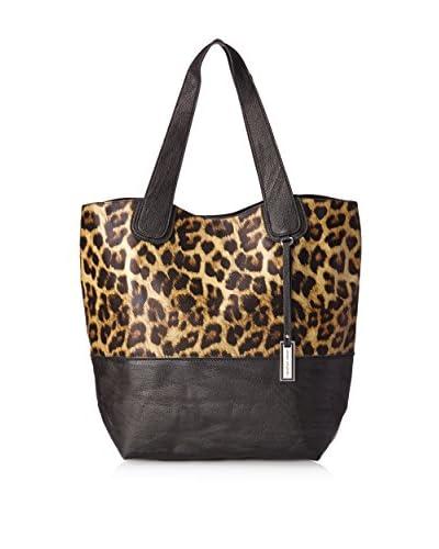 Urban Originals Women's Coogee Leopard Tote Bag, Black Leopard