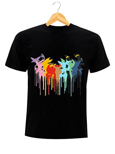 T-Shirt Evoli Eevee Nintendo Pokemon nero M