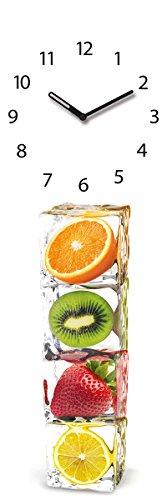 Eurographics U-DT10068 Wanduhr aus Glas, Ice Cube Clock, 20 x 60 cm