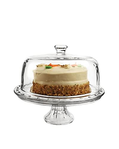 Circleware Sophisticate 6-in-1 Cake Plate with Dome, Clear