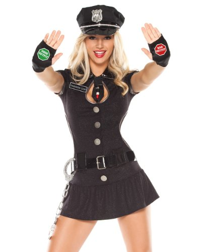 Coquette Sexy Funny Womens Fashion Police Officer Cop Halloween Costume