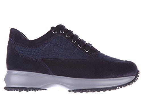 Hogan scarpe sneakers bambino camoscio nuove interactive allacciata blu EU 35 HXC00N0001E2Y39999