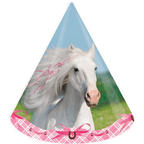 Heart My Horse Party Cone Hats (8 ct) - 1