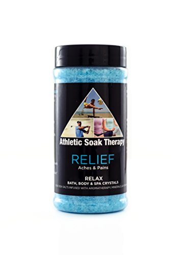 Relief Athletic Soak Therapy Aromatherapy Bath Salts -17 Oz- Natural Minerals for Soaking Aches, Pains & Stress Relief Athletic Bath