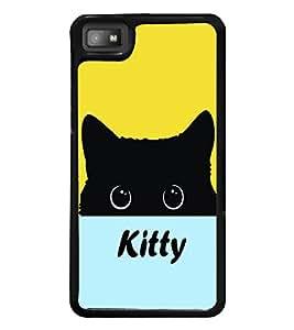 printtech Kitty Eyes Back Case Cover for BlackBerry Z10