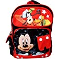 Mickey Mouse and Friends Large Backpack - Full Size Mickey Backpack ( Red / Black )