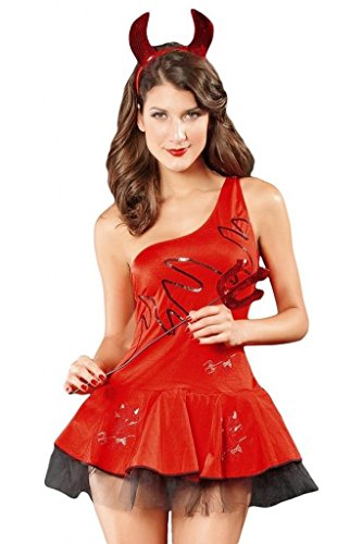 Dear-Lover Women's Sexy Halloween Adult Costume Dancing Devil Costume Set