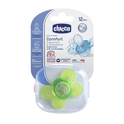 Chicco 00074915310000 Comfort Neutro Succhietto Silicone, Bianco, 12+ Mesi