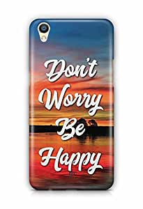 YuBingo Don't Worry. Be Happy Designer Mobile Case Back Cover for Oppo F1 Plus
