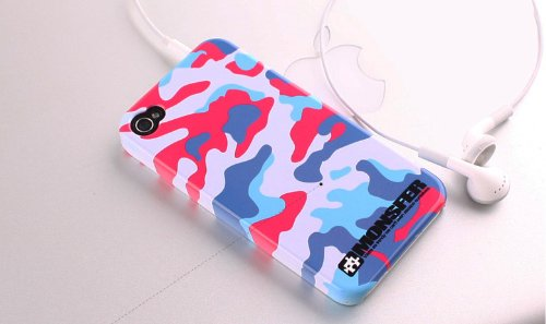 Iphone4 /4S Case, Premium Hard Case Cover Camouflage For Apple Iphone 4 / 4S - (Includes A Screen Protector Film)