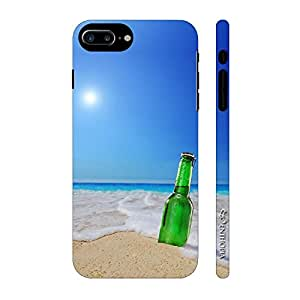 Enthopia Designer Hardshell Case Beer on the Beach Back Cover for Apple iPhone 7 Plus