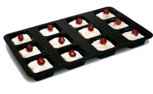 Wellbake Silicone Brownie Financier 12 Hole Tray. Heavy Duty Nonstick Silicone Bakeware + 10 Year Guarantee Home & Kitchen front-496392