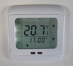 SM-PC®, Raumthermostat Thermostat programmierbar Touchscreen #832 Digital weisse Hintergrundbeleuchtung