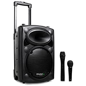 Ibiza Port 8 VHF Enceinte sono portable Haut parleur avec micro