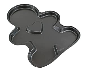 WILTON Giant Non-Stick Gingerbread Boy Heart Cookie Pan