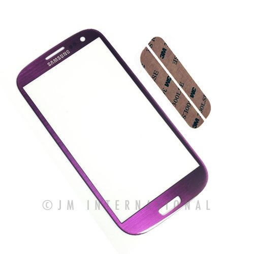 Epartsolution-Samsung Galaxy S 3 Iii I9300,T999,I747,I535,L710,R530 Touch Screen Digitizer Lens Front Glass Outer Lens Purple Replacement Part Usa Seller