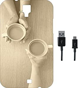 BKDT Marketing Printed Soft Back Cover Combo for Micromax Canvas Bolt D200 With Charging Cable