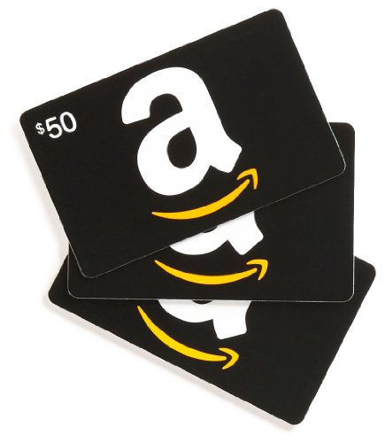Amazon.com $50 Gift Cards, Pack of 3 (Classic Black Card Design)