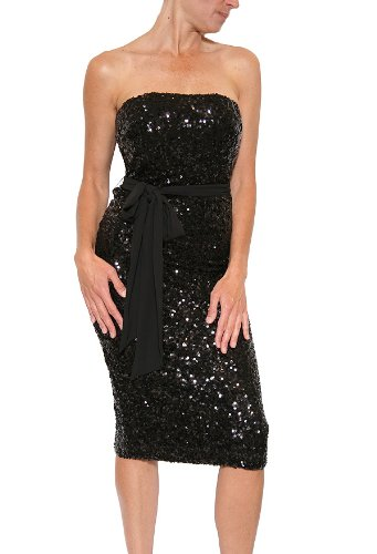d7dac5291bb7 Best Buy Women's French Connection Ozlem Sequin Strapless Dress in Black  Size 6 Online Shop