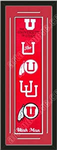 Heritage Banner Of Utah Utes With Team Color Double Matting-Framed Awesome &... by Art and More, Davenport, IA