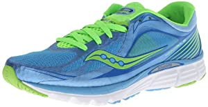 Saucony Women's Kinvara 5 Running Shoe,Blue/Slime,8 M US