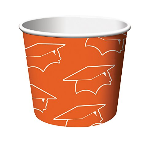 Creative Converting 6 Count Graduation Treat Cups, Orange