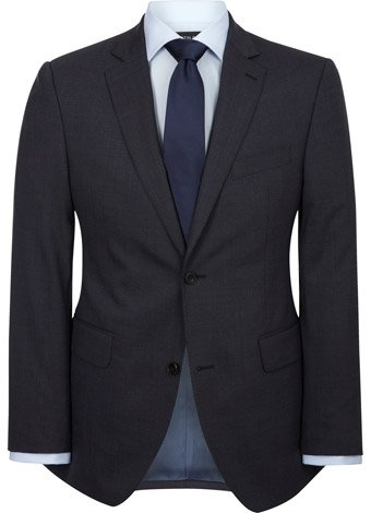 Austin Reed Contemporary Fit Navy Puppytooth Jacket LONG MENS 44