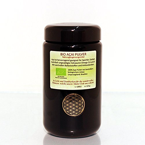 Regenbogenkreis Acai Pulver, Bio- und Rohkostqualität Violettglas 50 g