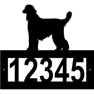 Custom Crafted Afghan Hound Steel Address Sign