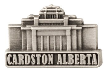 LDS Mens Cardston Alberta Temple Silver Steel Tie Tac / Tie Pin for Boys