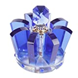 Hot Sale Luxury Crown Shape K9 Car Crystal Perfume Seat Set Home Office Mini Air Fresheners Bottle (Blue)