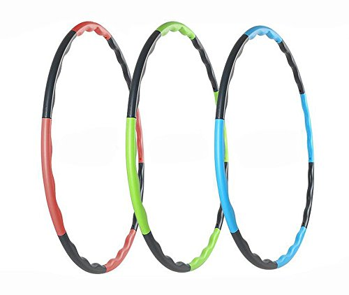Hula Hoop for Fitness, 8-segmented, Workout for Students and Kids, Exercise, Weight Loss and Perfect Body (Green)