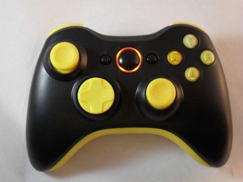 Matte Black/Yellow Led Xbox 360 Modded Controller (Rapid Fire) Cod Black Ops 2, Mw2, Mw3, Mod Gamepad