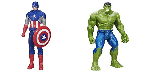 Super Hero Captain America vs Hulk 12 inch Titan Hero Series Action Figures Toys