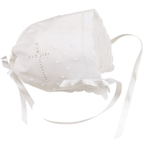 Elegant Baby White Keepsake Bonnet (Discontinued by Manufacturer) - 1